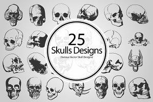 Skull Designs (Vector)