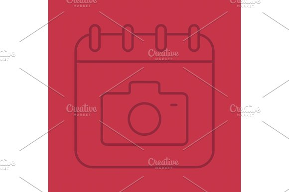 Photographer's Day Color Linear Icon