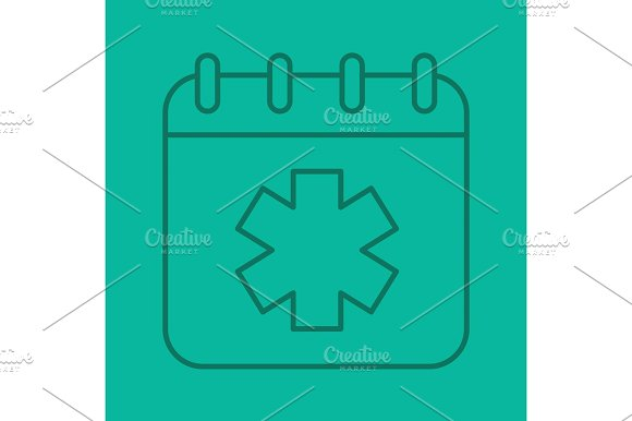 World Ambulance Day Color Linear Icon