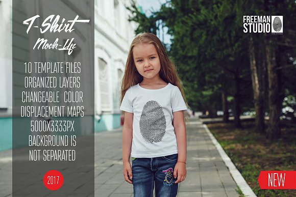 Kids T-Shirt Mock-Up Vol.8 2017