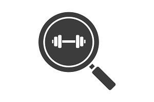 Gym search glyph icon