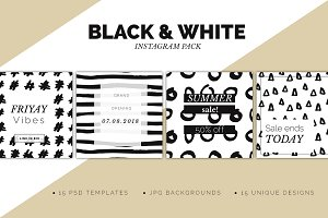 Instagram Black & White Pack