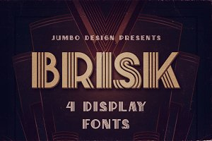 Brisk - ArtDeco Display Font