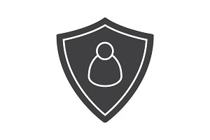User security glyph icon
