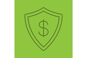Money security color linear icon