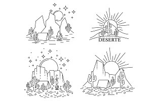 Dayly and nightly desert