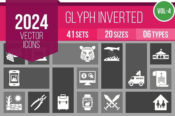 2024 Vector Glyph Inverted Icon