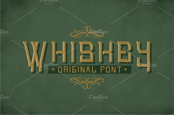 Whiskey Original Label Typeface
