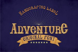 Adventure Vintage Label Typeface