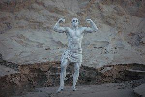 Bodybuilder male statue.