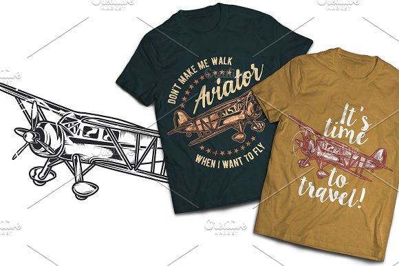 Aviation T-shirts And Poster Labels