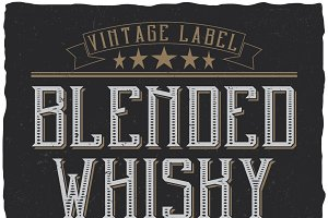 Blended Whisky Label Typeface