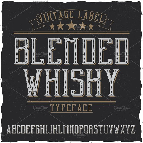 Blended Whisky Label Typeface