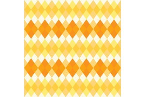 Retro primitive seamless rhombus background in autumn colors