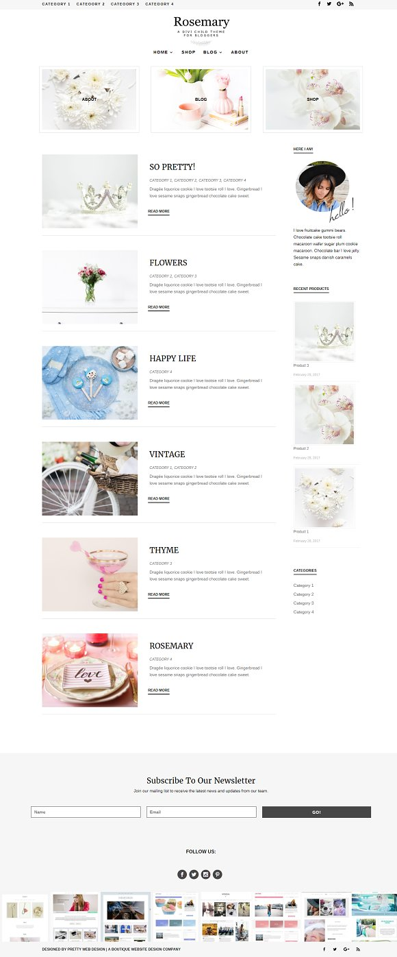 Rosemary WordPress Blog Theme