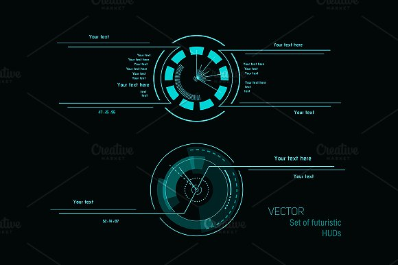 Abstract Sci-fi Elements For Design