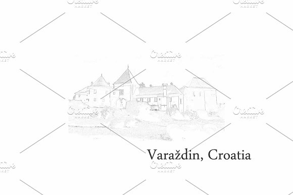 Croatia Postcards Varazdin
