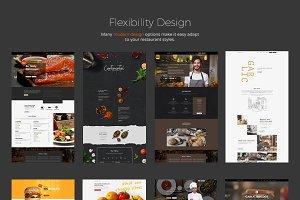 Garlic Restaurant Website Builder