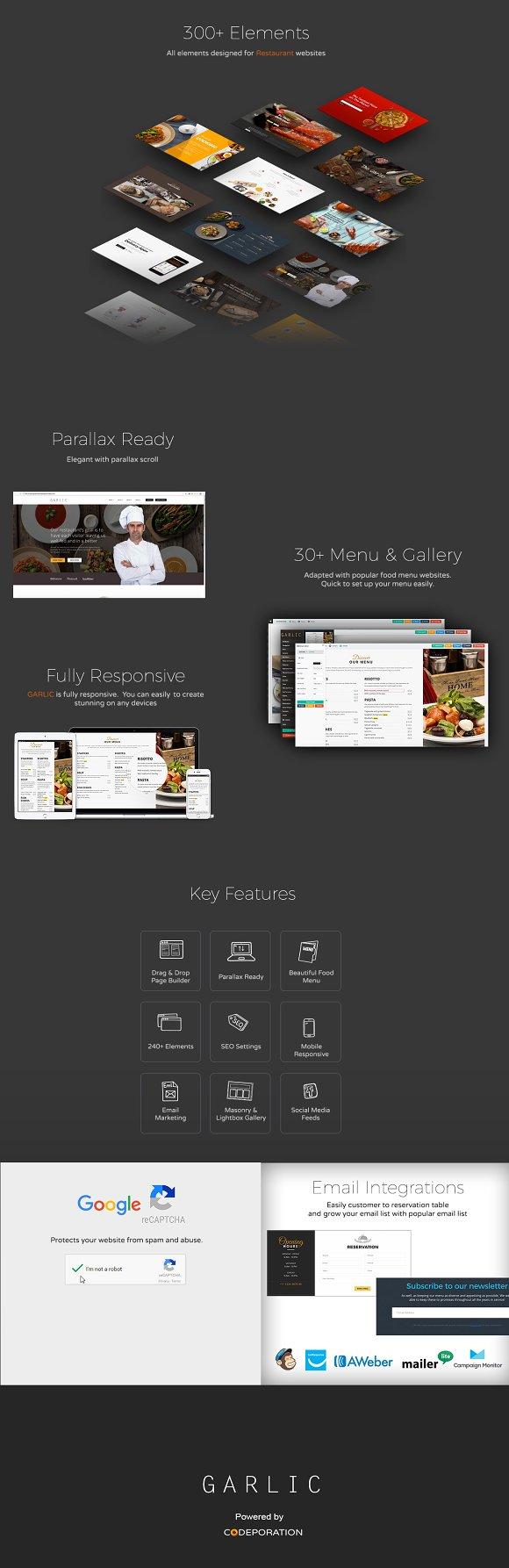 Garlic Restaurant Website Builder ~ HTML/CSS Themes ~ Creative Market