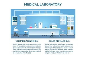 Medical laboratory interior
