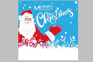 Santa Claus Holiday Card. Vector