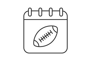 Super Bowl date linear icon