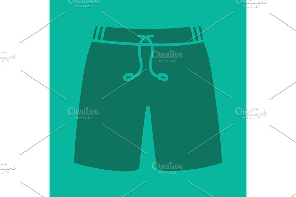 Swimming Trunks Glyph Color Icon