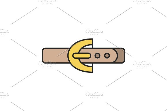 Leather Belt Color Icon