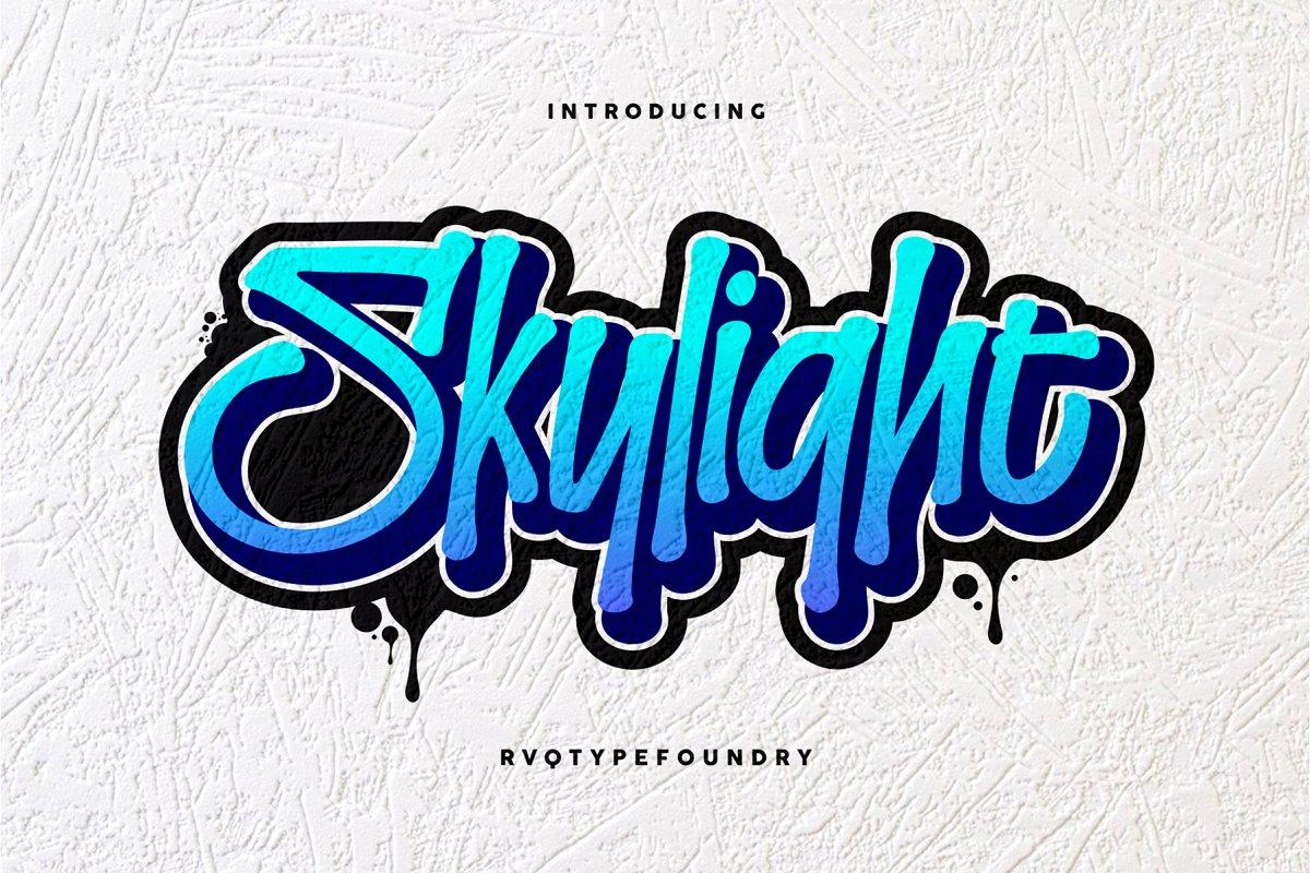 Skylight Graffiti ~ Display Fonts ~ Creative Market