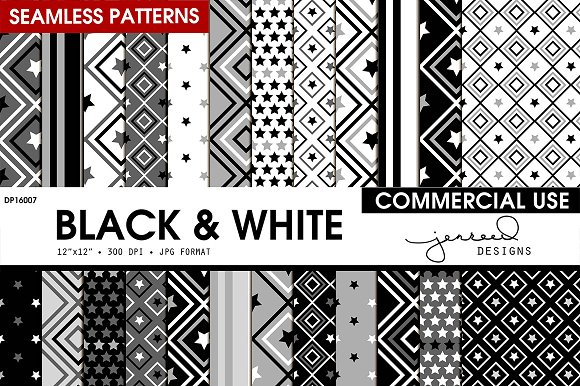 Black And White Seamless Patterns