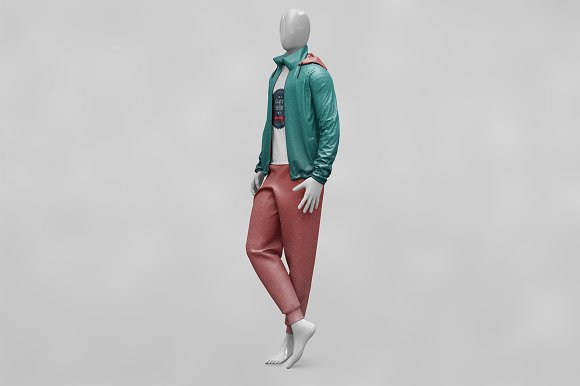 Male Sport Outfit MockUp