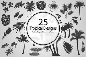 25 Tropical Designs (Vector)