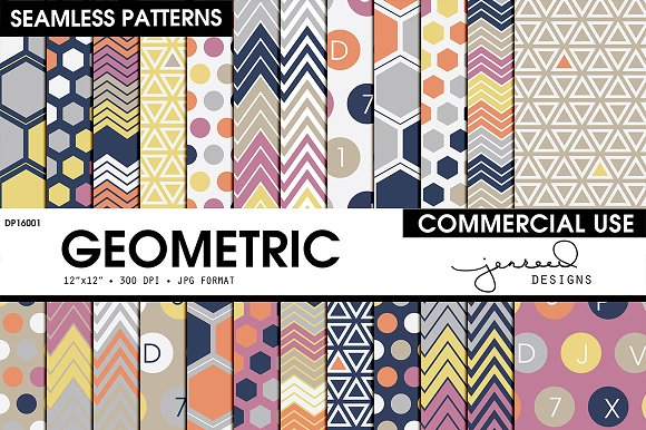 Geometric Seamless Patterns DP16001