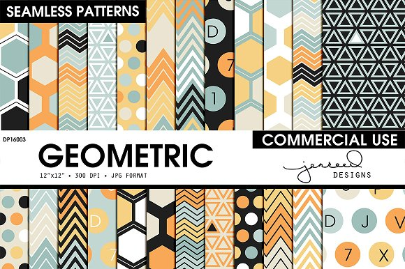 Seamless Geometric Pattern DP16003