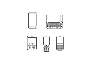 Modern mobile phone set