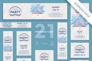 Banners Pack | Pool Party