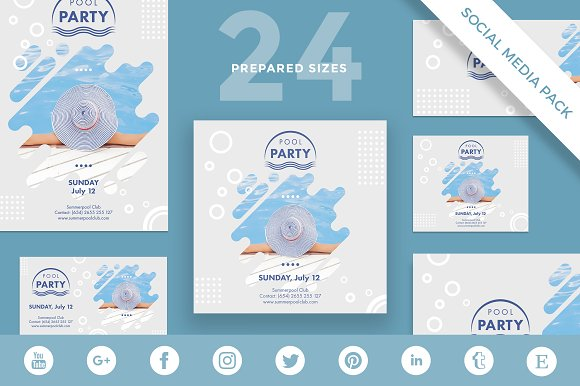 Social Media Pack | Pool Party