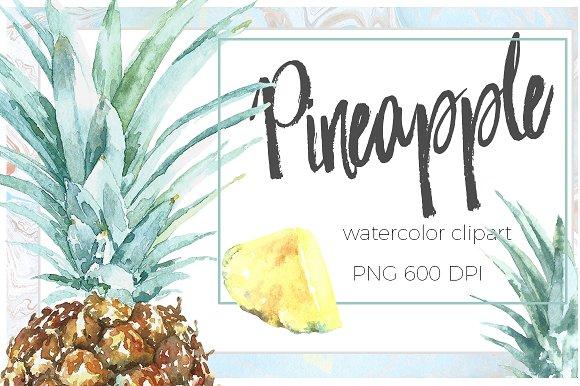 Pineapple Tropical Watercolor Set