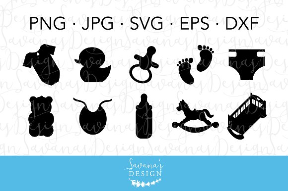 Baby Bundle Cut Files And Clipart