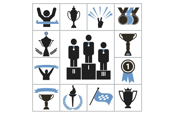 Sports award icons in Graphics