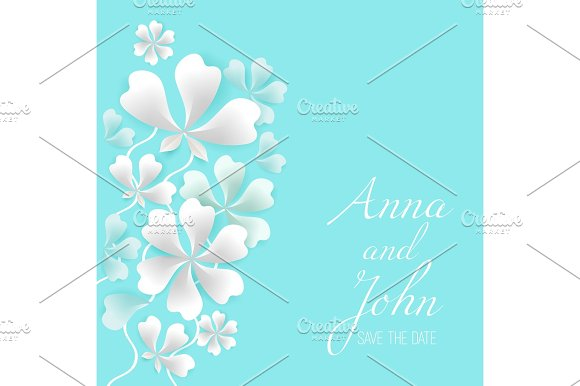 Save The Date Greeting Card With Place For Your Text