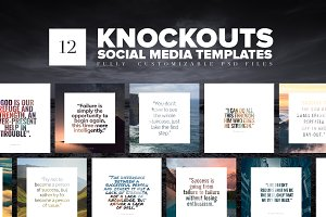 Knockouts Social Media Templates