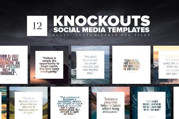 Knockouts Social Media Templates
