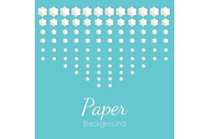Paper background with flowers of different shapes, place for text
