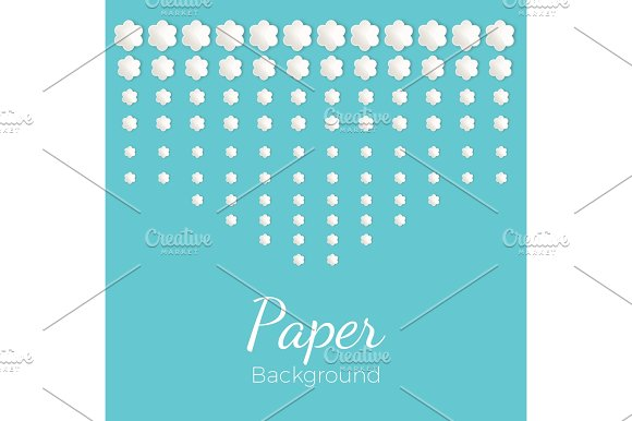 Paper Background With Flowers Of Different Shapes Place For Text