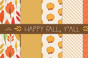 Happy Fall Y'all - Digital Paper