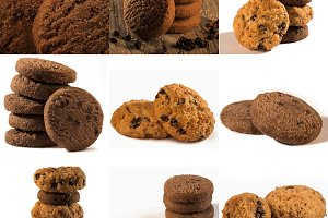 chocolate biscuits collage 2