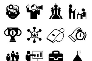 Business mentoring icons