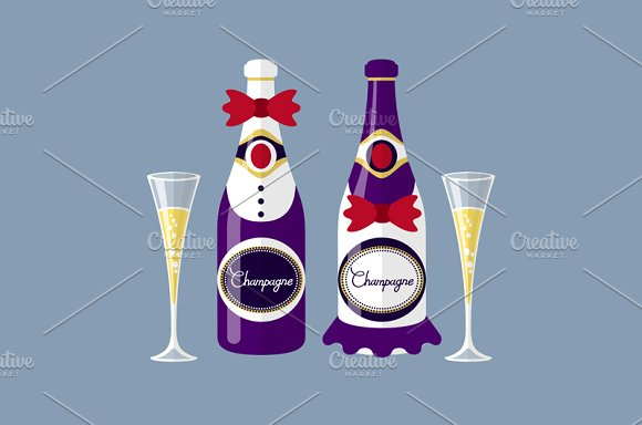 Champagne Of The Newlyweds Bottle