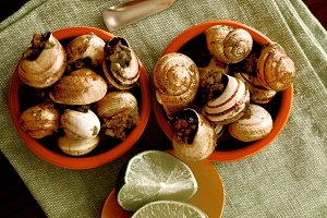 Snails with Garlic Butter
